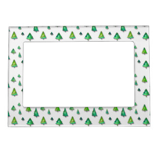 christmas holiday pattern magnetic picture frame