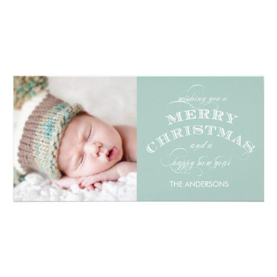 CHRISTMAS HOLIDAY PHOTO CARD GREEN