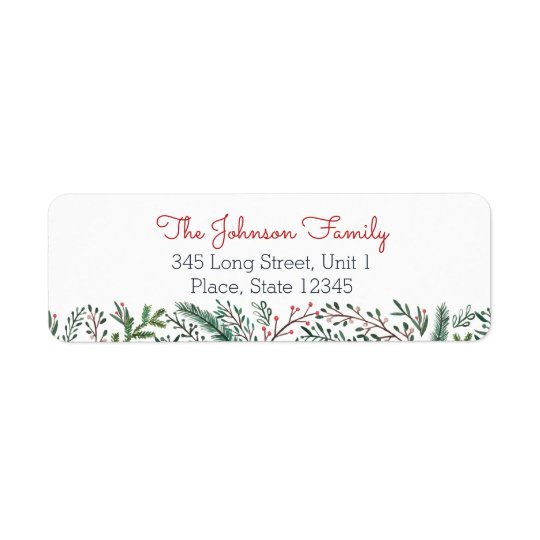 Christmas Holiday | Pine Tree | Address Labels