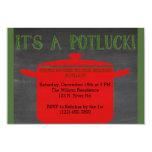 Christmas Holiday Potluck 9 Cm X 13 Cm Invitation Card