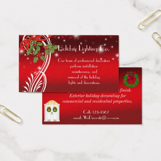 Christmas Holiday, Professional Business Card
