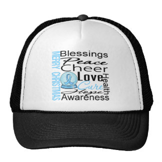 Christmas Holiday Prostate Cancer Collage Trucker Hat