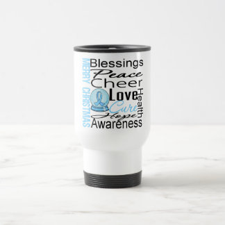 Christmas Holiday Prostate Cancer Collage Coffee Mugs