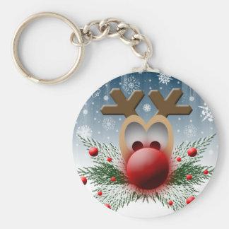 Christmas Holiday Reindeer Key Ring