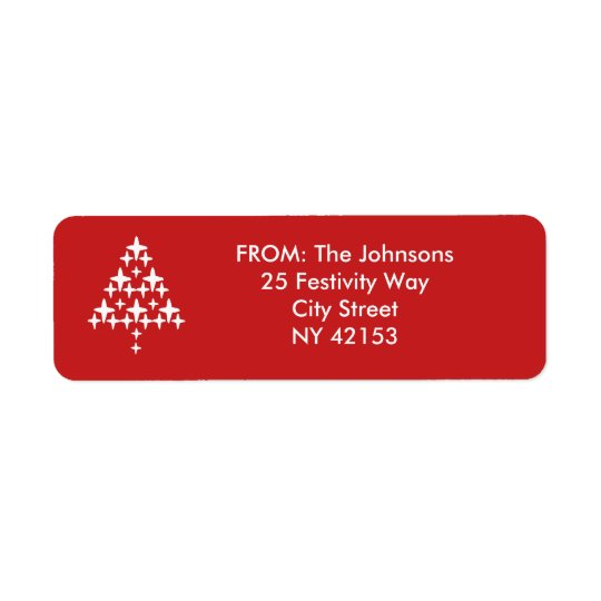 Christmas Holiday Return Address Labels - Red