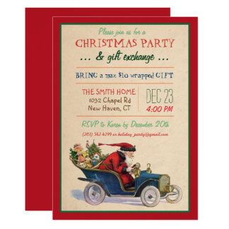 Christmas Holiday Santa Invitation