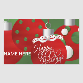 CHRISTMAS Holiday SEAL PersonalizeD RECTANGLE Rectangular Stickers
