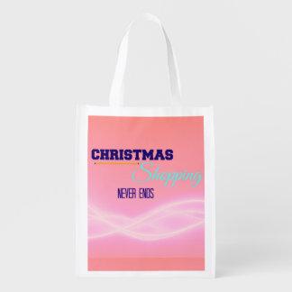 Christmas Holiday Shopping Reusable Bags Reusable Market Tote
