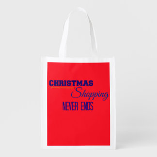 Christmas Holiday Shopping Reusable Bags Reusable Grocery Bags