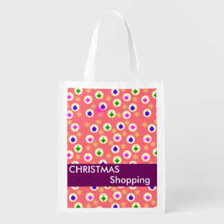 Christmas Holiday Shopping Reusable Bags Reusable Grocery Bag