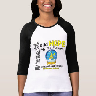 Christmas Holiday Snow Globe 1 Bladder Cancer T-Shirt
