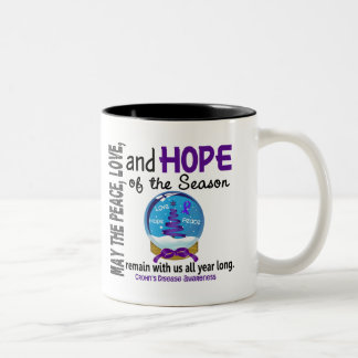 Christmas Holiday Snow Globe 1 Crohn's Disease Two-Tone Mug
