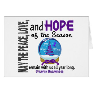 Christmas Holiday Snow Globe 1 Epilepsy Greeting Card