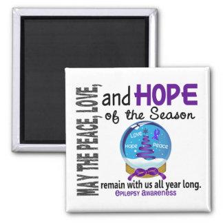 Christmas Holiday Snow Globe 1 Epilepsy Fridge Magnets
