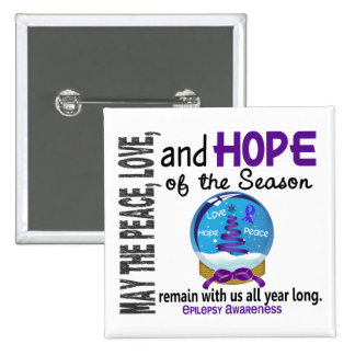 Christmas Holiday Snow Globe 1 Epilepsy Pins