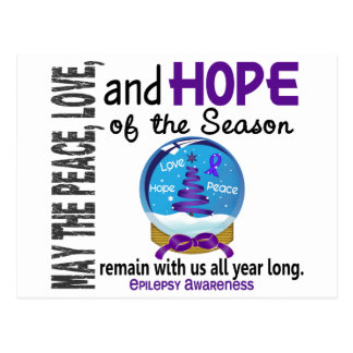 Christmas Holiday Snow Globe 1 Epilepsy Postcards