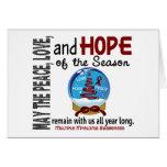 Christmas Holiday Snow Globe 1 Multiple Myeloma Greeting Card