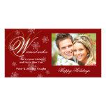 Christmas Holiday Snowflake Photo Cards
