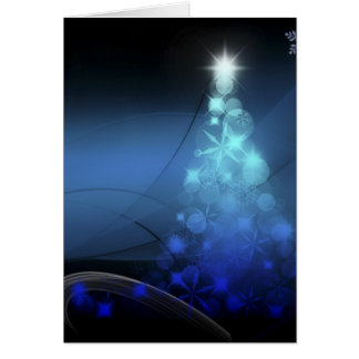Christmas Holiday Snowflakes Blue Greeting Card