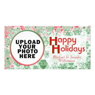 Christmas Holiday Snowflakes Photo Card