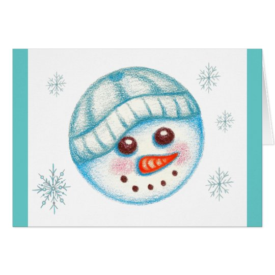 Christmas Holiday Snowman Card