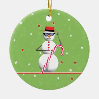 Christmas Holiday Snowman Christmas Ornament
