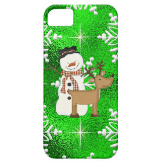 Christmas Holiday Snowman iPhone5 case mate barely