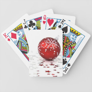 Christmas Holiday Stars Bicycle Playing Cards
