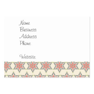 Christmas Holiday Stars Patterns for Xmas Pack Of Chubby Business Cards