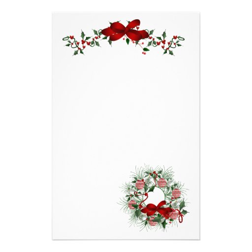 Christmas Holiday Stationery Paper
