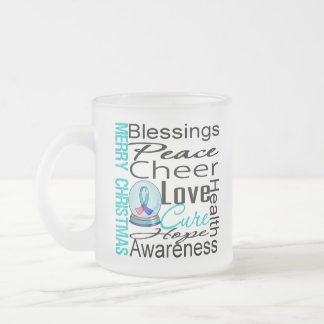 Christmas Holiday Thyroid Cancer Collage Mugs