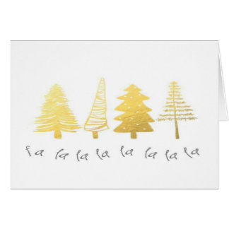Christmas Holiday Tree Gold Quote Greeting Card