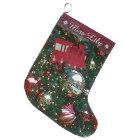 Christmas Holiday Trim The Tree Toy Train Stocking