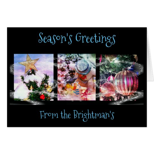 Christmas Holiday Trio - Greeting Card