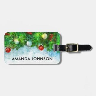 Christmas Holiday Vacation Travel Luggage Tag