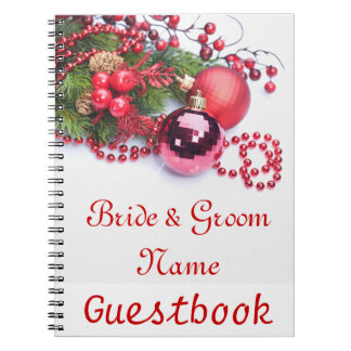Christmas Holiday Wedding Guestbook Notebook