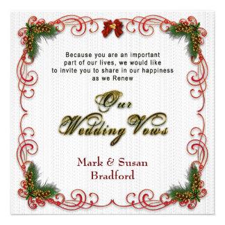 Christmas Holiday Wedding Renewing Vows Invitation Invite