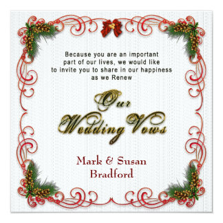 Christmas/Holiday Wedding Renewing Vows Invitation