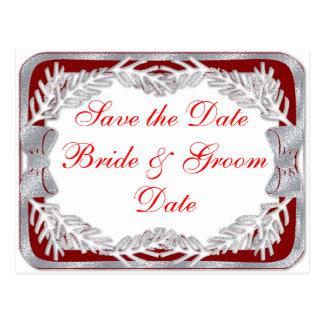 Christmas Holiday Wedding Save the Date Postcards