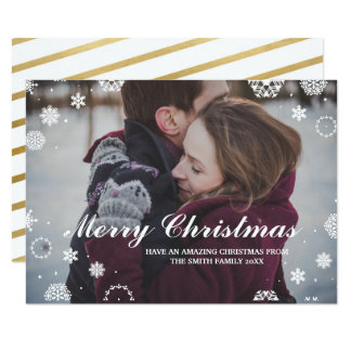 Christmas Holidays Photo Card Xmas Couple