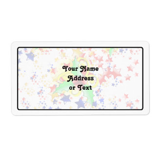 Christmas Holly and Stars Shipping Label