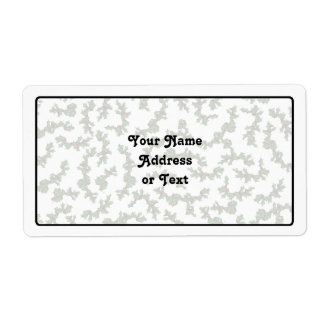 Christmas Holly Background Shipping Label