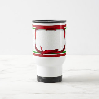 Christmas Holly Background with Gift Tag Stainless Steel Travel Mug