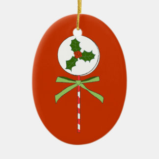 Christmas Holly Berries LolliPop Illustration Christmas Ornament