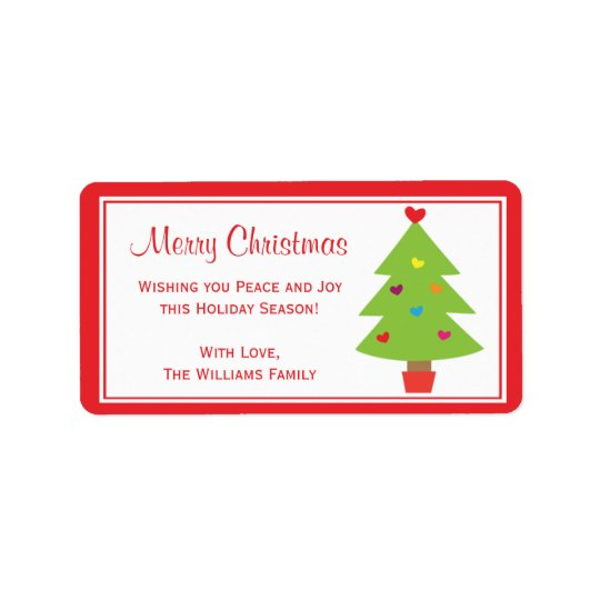 Christmas Holly Berry Gift Tag Labels