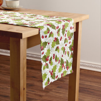 Christmas Holly berry pattern table runner