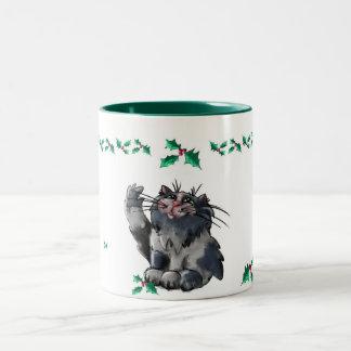 Christmas Holly Cat Mug