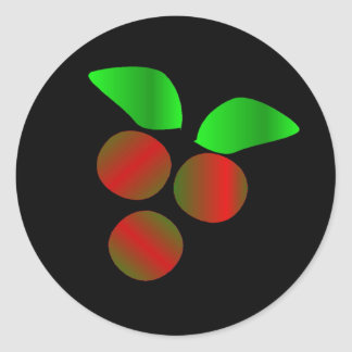Christmas Holly Classic Round Sticker