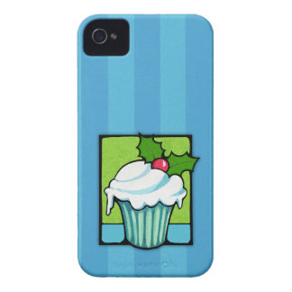 Christmas Holly Cupcake blue Blackberry Bold Case