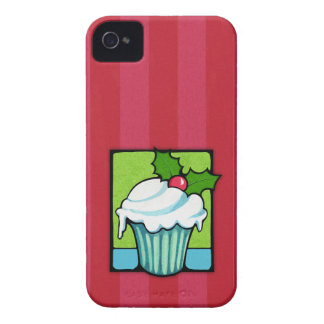 Christmas Holly Cupcake red Motorola RAZR Case